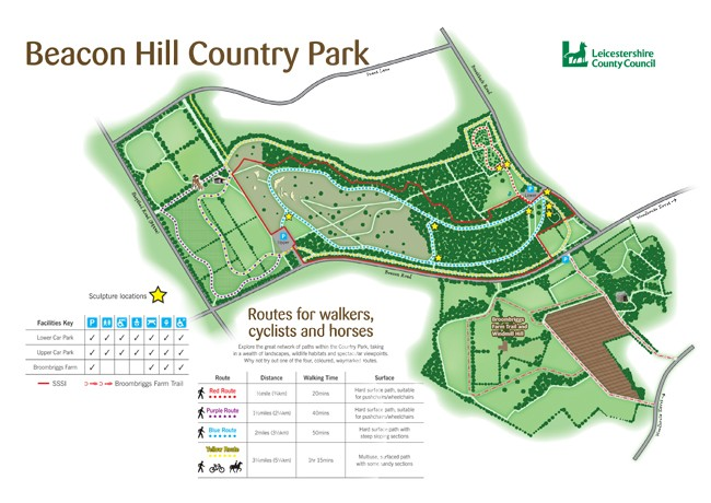 Leicestershire Uk Map.Beacon Hill Country Park Visitor Information Times And Maps