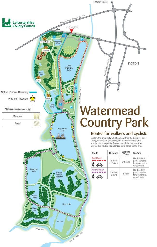 Watermead Park Visitor Information Leicestershire Country Parks